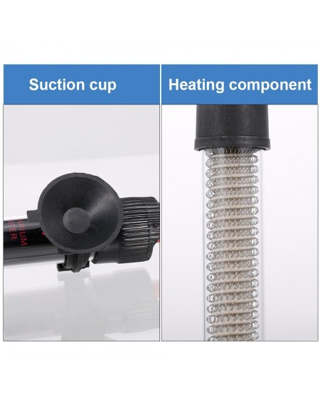 Aquarium Heater Submersible Auto Thermostat Heater Fish Tank Water Heater 50W Adjustable Temperature with Suction Cups