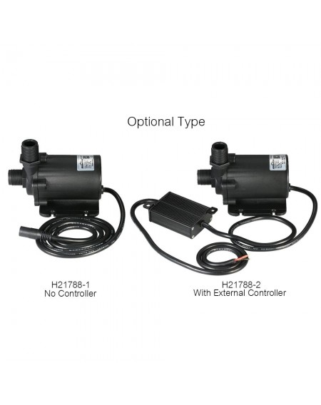 Bluefish DC24V 91.2W 1500L/H Lift 15m Brushless Water Pump Waterproof Submersible Pump for Aquarium Fish Tank Tabletop Fountain Pond and Hydroponic Systems