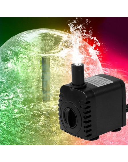 10W Ultra-quiet USB Water Pump with Power Cord IP68 Waterproof for Aquarium Fish Tank Fountain with 4 LED Light