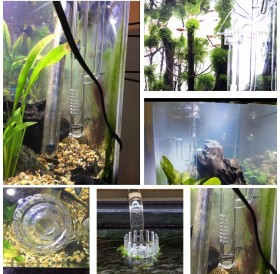 Glass Transparent Tube Inflow with Surface Skimmer for Plants Aquarium Canister Filter Inflow Glass Tube Outer Diameter 13MM