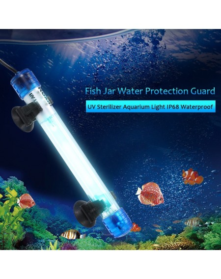 AC110-220V 11W UV Sterilizer Germicidal Lamp Ultraviolet Filter Light Tube IP68 Water Resistance for Aquarium Fish Jar