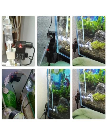 DC 12V Output Solenoid Valve Aquarium CO2 System Regulator Electric Low Temperature Magnetic Valve for Aquarium Fish Tank Water Plant Grass Grow Easy to Install Single Head