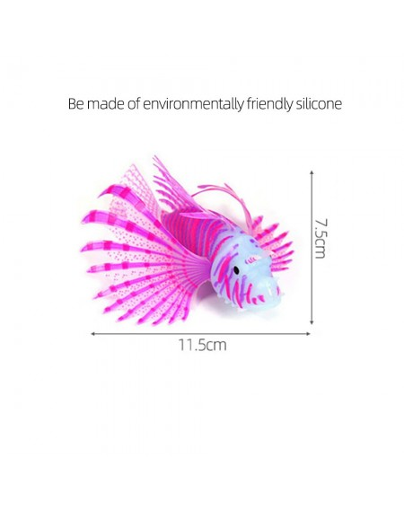 Aquarium Fish Tank Artificial Fish Decoration Aquarium Glowing Lionfish Floating Decoration Ornament