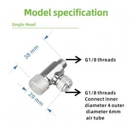 Fine Adjusting Valve for CO2 Regulator Fish Tank CO2 System Carbon Dioxide Fine-tuning Valve Single Head