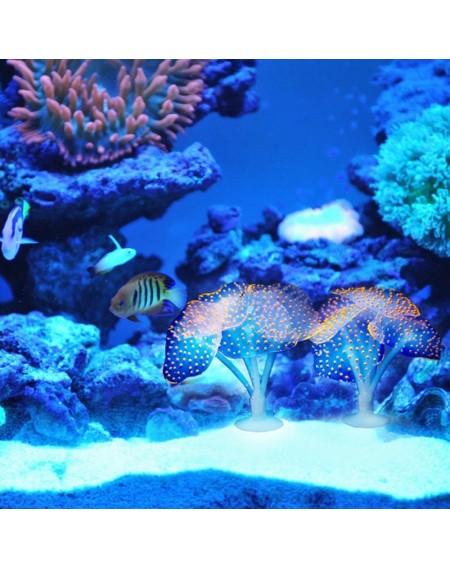 Aquarium Reflective Mushroom Aquarium Decorations Decorative Fish Tank Ornaments Artificial Realistic Plants for Aquarium Fish Tank