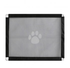 Magic Gate Pet Safety Gate Folding Portable Guard Net Fence Install Anywhere for Dogs Cats Pets Fits Space Within 39IN