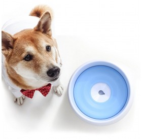 Pet Dog Drinking Floating Bowl Dog Water Bowl Spill-proof Water Bowl with Floating Disk for Dogs Cats Pet