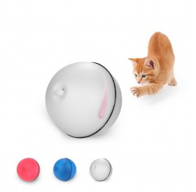Cat Toy Rolling Ball LED Red Light Motion Activated Ball Pet Interactive Toy