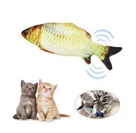 Electric USBCharging Simulation Fish Cat Toy Funny Interactive Pets Cats Catnip Toys for Cat Kitty Kitten-Perfect for Biting Chewing Kicking