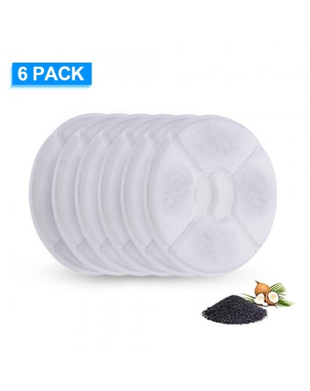 Cat Water Fountain Filters Replacement Filters for Flower Fountain Cat Water Fountain Water Dispenser 6PCS