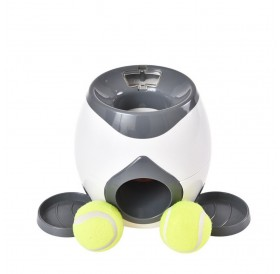 Interactive Reward Toy Dogs Tennis Ball Automatic Thrower Food Treat Dispenser Creativity Play Game Dog Food Leader Exercise Helper