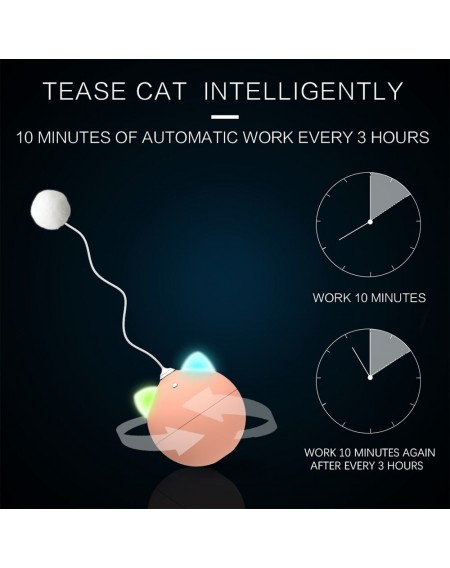 Cat Interactive Ball Automatic Rolling Ball for Cats with Colorful Light