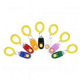 New 7 Pack Pet Dog Training Clicker Trainer Aid Wrist Clicker Tool for Dog with Wrist Strap