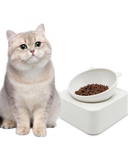 350g Cat Bowl Cat-Shaped Pet Feeders Magnetic Adjustable Raised Non-Slip Pet Bowl Portion Control Food Bowl for Pet Cat Dog