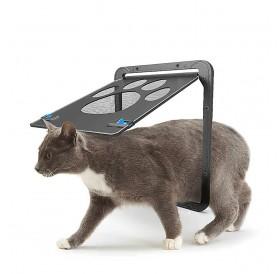 Pet Screen Door Magnetic Flap Screen Automatic Lockable Black Door for Small Cat Kitten Puppy