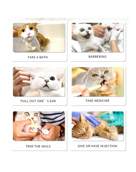 Anti-scratch Cat Shoes 4PCS/Set Grooming Bag Pet Paw Protector for Bathing