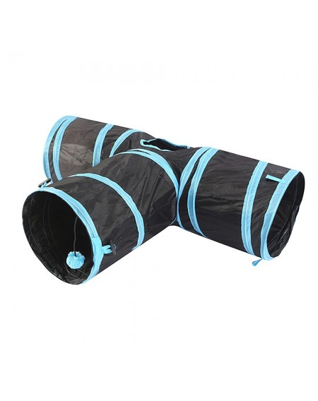Cat Tunnel 3 Way Pet Play Tunnel Collapsible Tunnel Toy for Cats Dogs Rabbits Pets