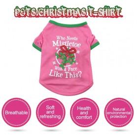 Dog shirt Dog Christmas T-shirt Pet T-shirt Dog T-shirt Pet Dogs Clothing Dog Christmas Clothing T-shirt Puppy Costume