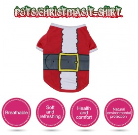 Dog shirt Dog Christmas T-shirt Pet T-shirt Dogs Christmas T-Shirt Summer Dog T-shirt Pet Dogs Clothing Christmas Dog Clothing Polyester T-shirt Puppy Costume