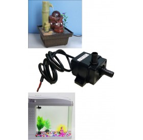 Ultra-quiet Mini DC12V Micro Brushless Water Oil Pump Waterproof Submersible Fountain Aquarium Circulating 240L/H 5W Lift 3M