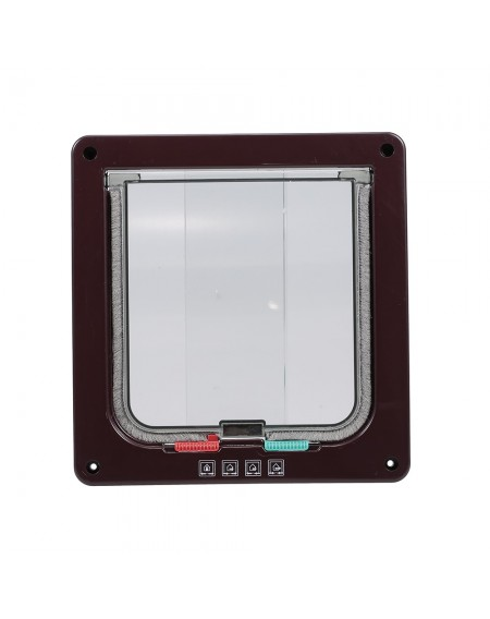 Cat Door Pet Entry Safe Ferromagnetic Pet Flap Door 4 Ways Locking Automatically Close for Kitty Small Dogs
