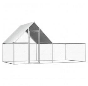 Chicken coop 4 × 2 × 2 m Galvanized steel
