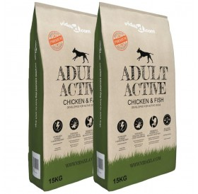 Premium dry dog food Adult Active Chicken & amp; Fish 2 x 15 Kg