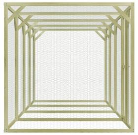 Chicken cage 1.5 x 6 x 1.5 m Impregnated pine wood