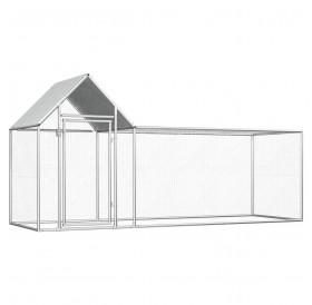 Chicken coop 3 × 1 × 1.5 m galvanized steel
