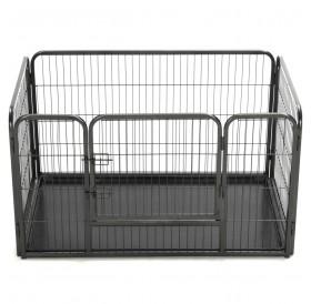 Puppy playpen steel 125 x 80 x 70 cm