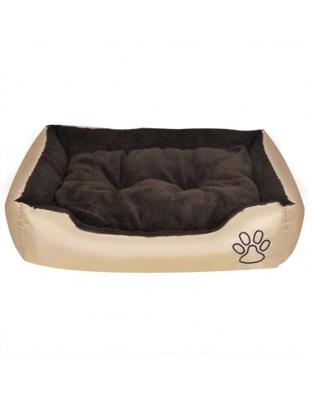 Dog Bed with soft padding Size S Beige