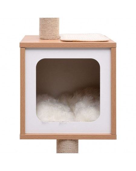 Cat scratching post with sisal scratching mat 129 cm