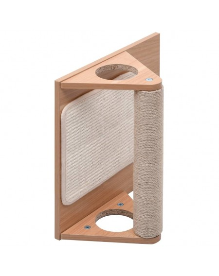 Cat scratching triangle with sisal scratching mats 40 cm