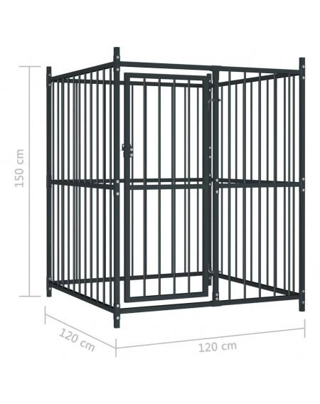 Outdoor dog kennel 120x120x150 cm
