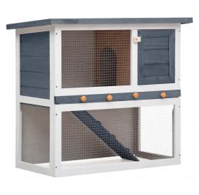 Rabbit hutch 1 door gray wood