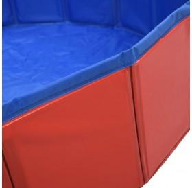 Dog pool foldable red 160 x 30 cm PVC