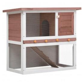 Rabbit hutch 1 door brown wood