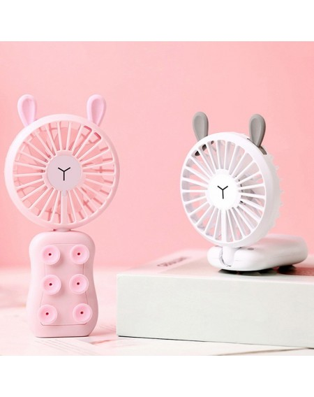 New USB Portable Mini Rechargeable Handheld Fan Silicone Suction Cup Mobile Phone Bracket Night Light Fan