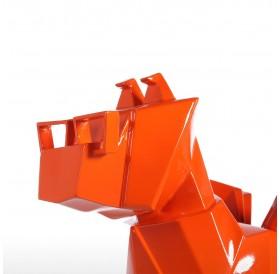 Tomfeel Glasses Dog Gold Resin Sculpture Home Decor Modern Art Figurine Animal Statue Fiberglass