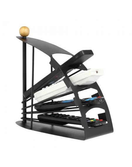 Remote creative desktop remote control storage rack TV products factory direct sales black