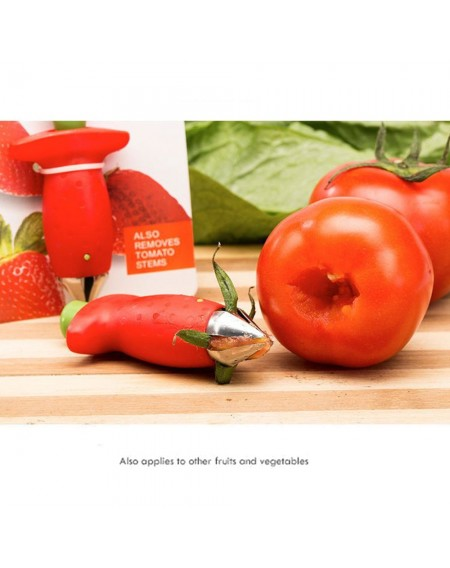 Korean Style Kitchen Utensils Stainless Steel Fruit Pedicle Device Tomato Picking Leaf Digging Device Strawberry Pedicle Device
