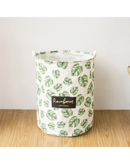 Laundry Basket Organizer with Rope Handles Folding Cylindric Storage Bin Laundry Hamper for Kids Toy Clothes