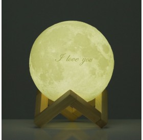 Tooarts Moon Lamp ❤ Valentine's Day Gift I LOVE YOU ❤ 3D Printed LED Light Modern Art Home Decor Moon In My Room US Plug 100-240V 50/60Hz