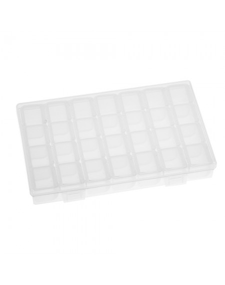 28 Grids Transparent Storage Lastics Box Shatter-Resistant Individual Manicure Mini Diamonds Tools Storage Box With Cover
