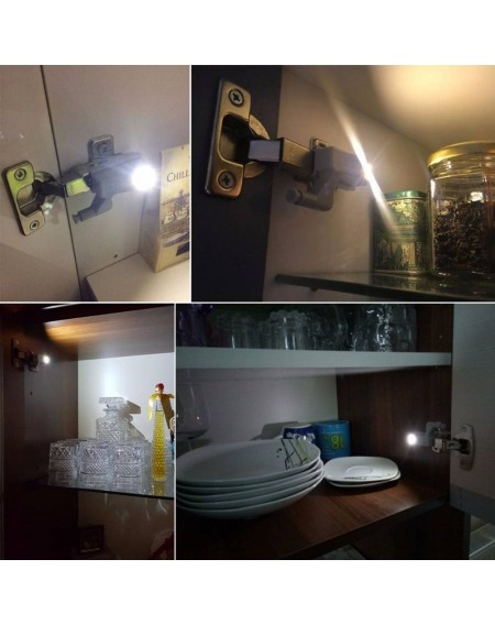 1PC Universal LED Hinge Night Light Sensor For Cabinet Kitchen Living Room Bedroom Cupboard Closet Wardrobe Lamp Without Battery