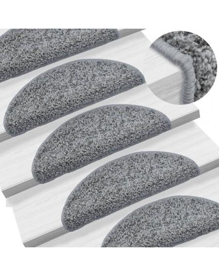 15 pcs. Stairmats Gray 56 x 20 cm