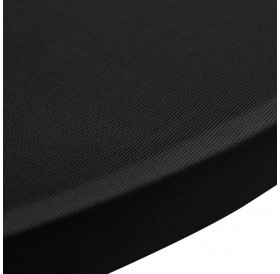 Standing table covers 4 pieces Ø 60 cm black stretch
