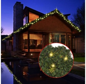 Christmas garland with LED light chain 20 m