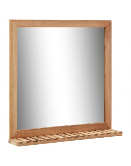 Bathroom mirror 60 × 12 × 62 cm walnut solid wood