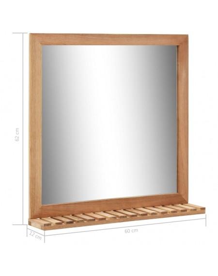 Bathroom mirror 60 × 12 × 62 cm walnut solid wood